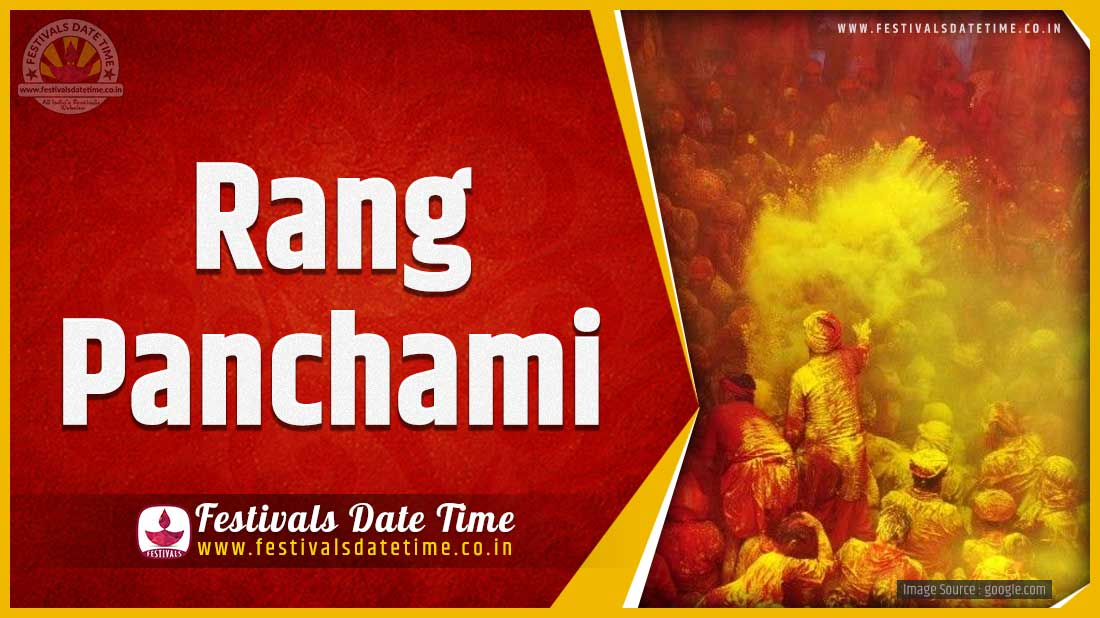 2021 Rang Panchami Date And Time 2021 Rang Panchami