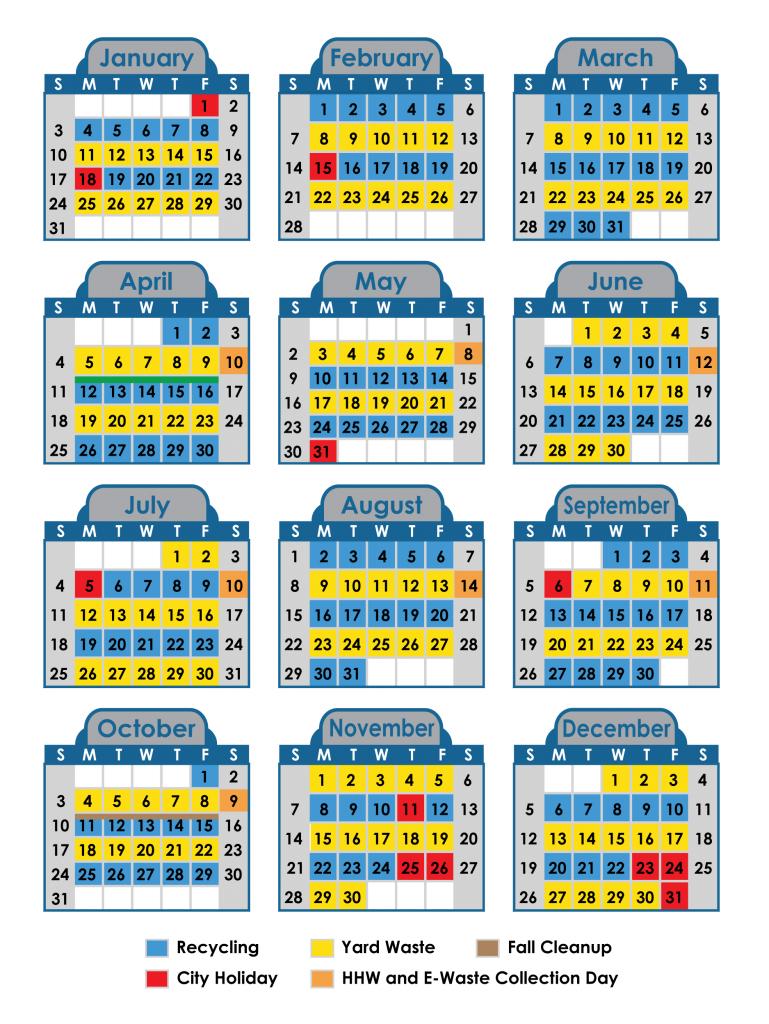 2021 Solid Waste Calendar