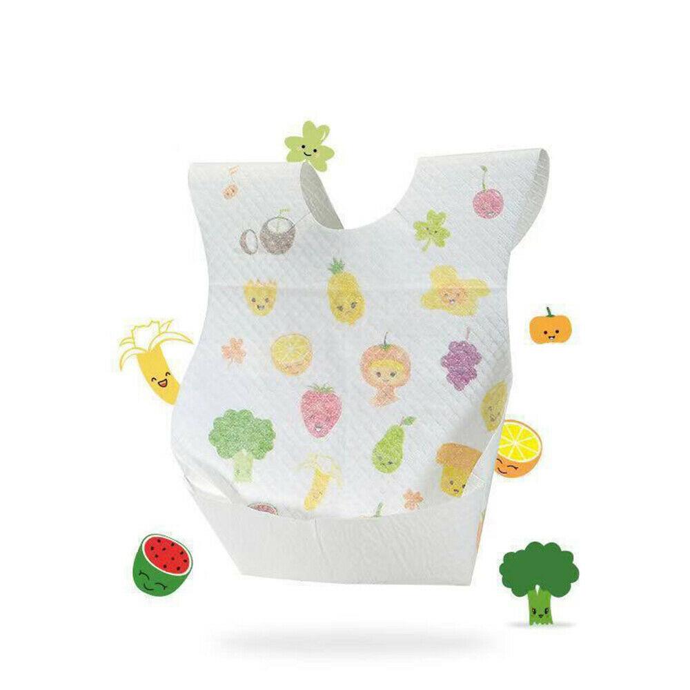 20pcs Baby Disposable Bibs Waterproof Feeding Paper Bib