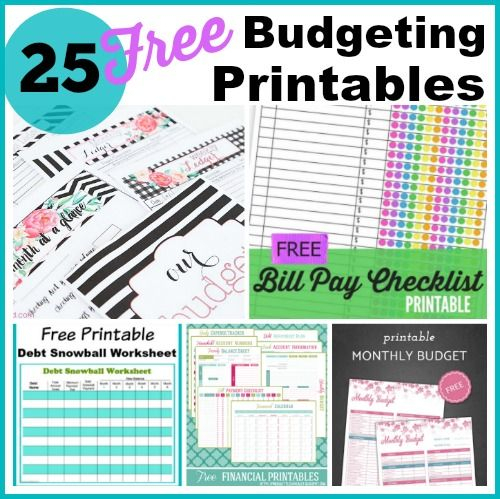 25 Free Budgeting Printables Take Control Of Your