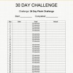 30 Day Challenge Easy Plank 30 Day Plank 30 Day