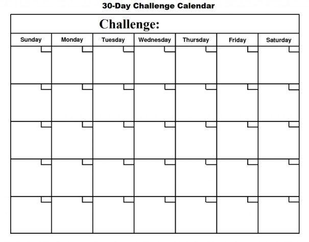 30 Day Journey To Personal Development Free Calendar