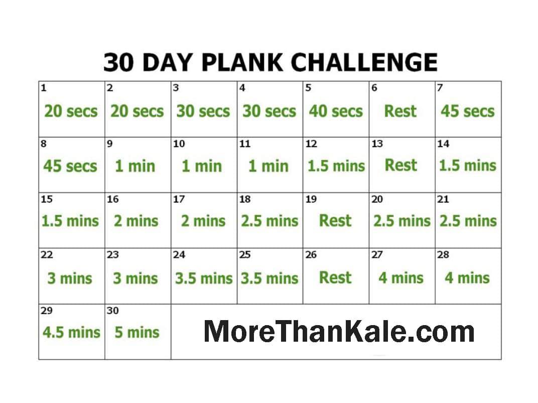 30 Day Push Up Challenge Printable Pdf Printable