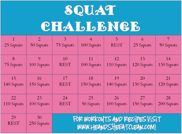 30 Day Squat Challenge Whole Body Fitness Tips