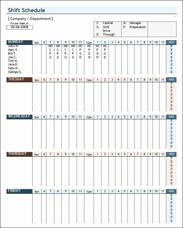 30 Employee Work Schedule Template Pdf In 2020 Study