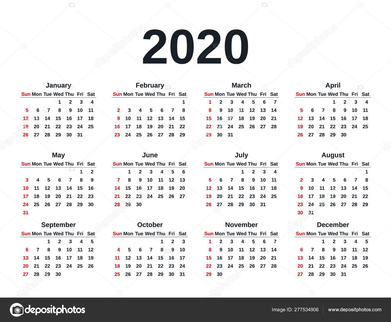 4 Year Calendar 2020 To 2020 Calendar Printables Free