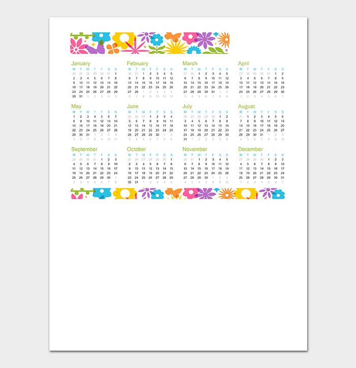 40 Free Printable Calendar Templates For Word