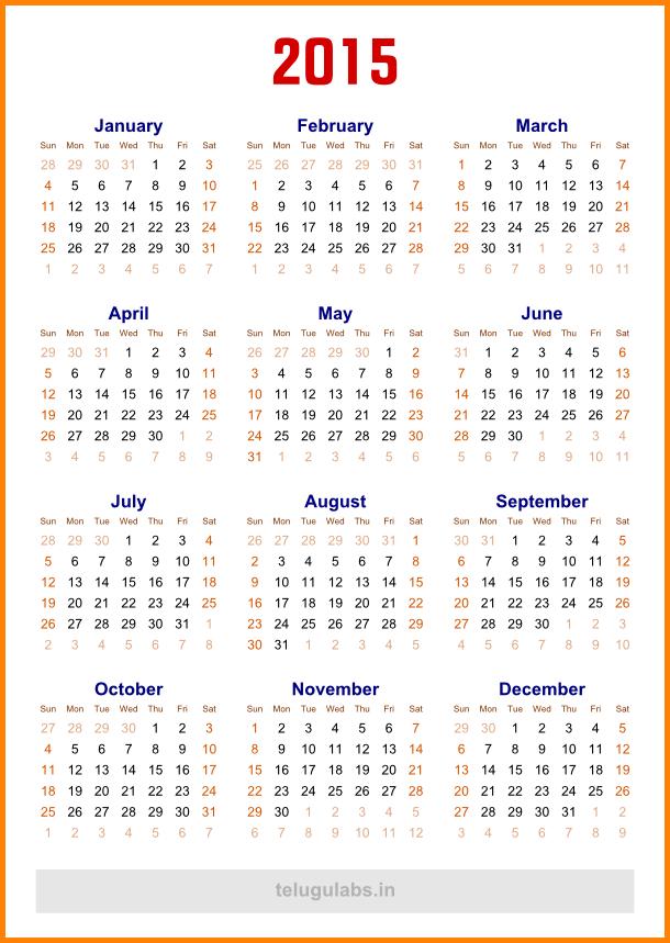 5 Year Calendar Template Calendar Template 2020