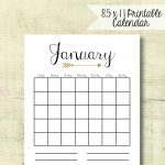 Arrow 12 Month Printable Diy 8 5 X 11 Vertical Calendar Etsy