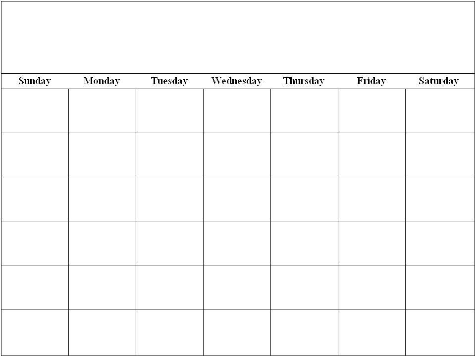 Blankcalendarpagetemplate Printable Calendar Template