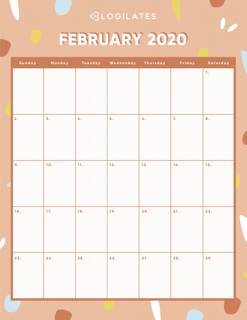 Blogilates August 2020 Challenge Calendar Template 2020 4