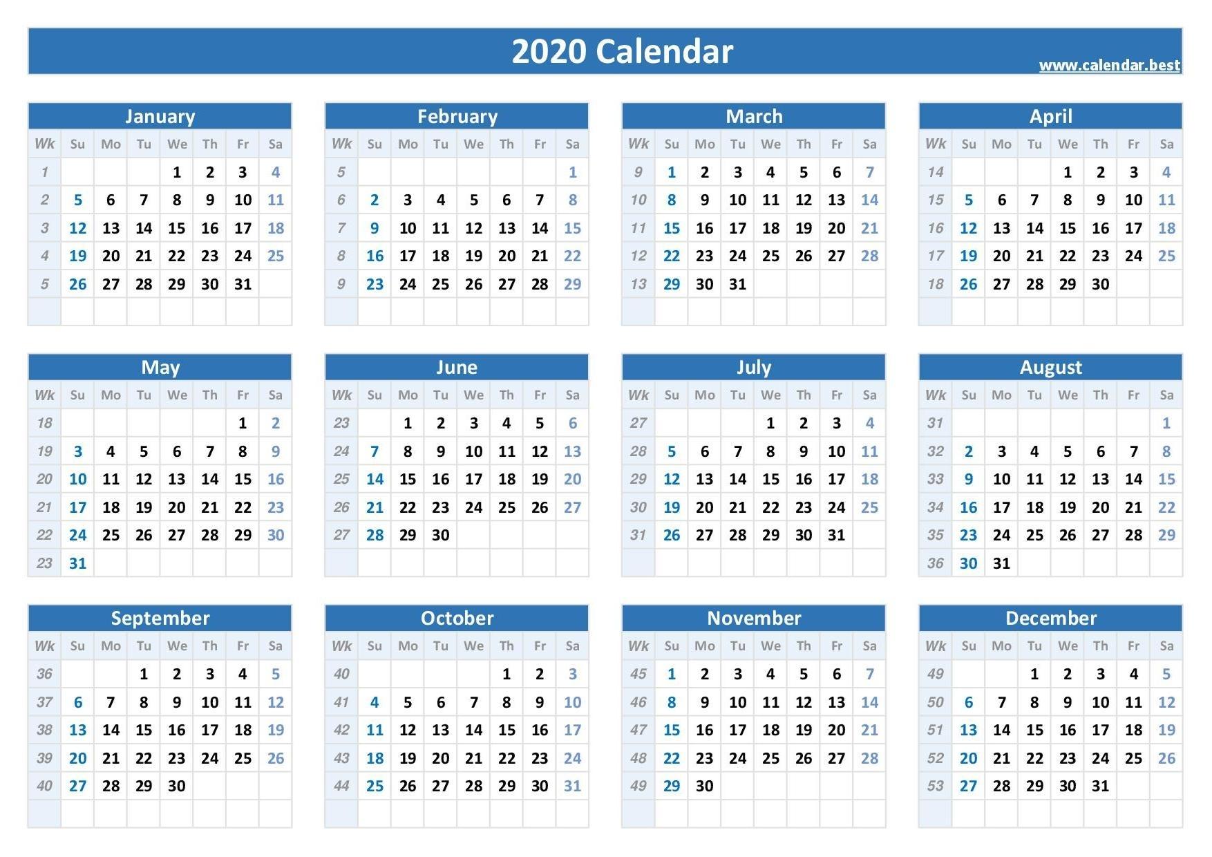 Calendar Year Week 38 Ten Free Printable Calendar 2020 2021