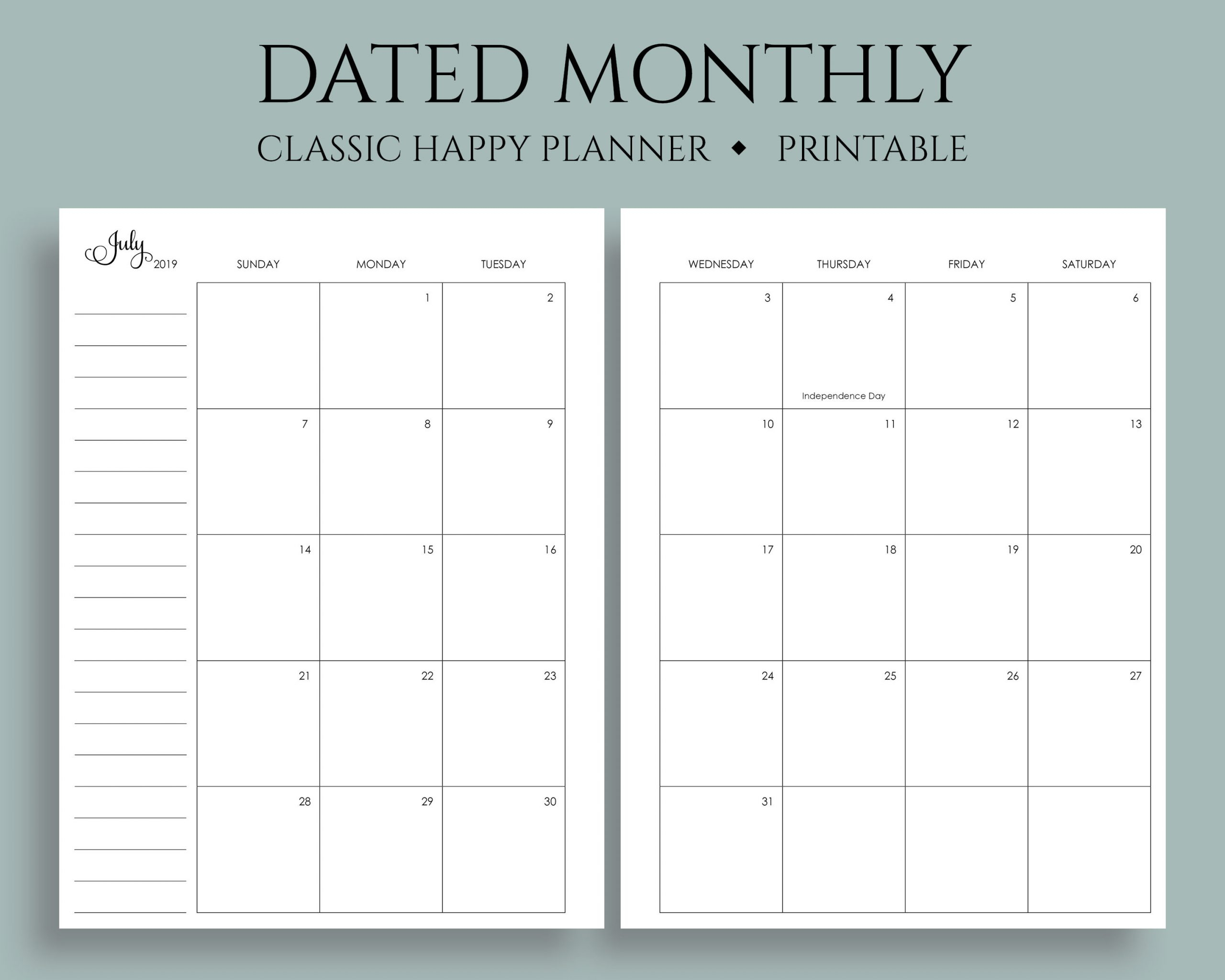 Catch Printable Calendar 2020 December 5 5 X 8 5