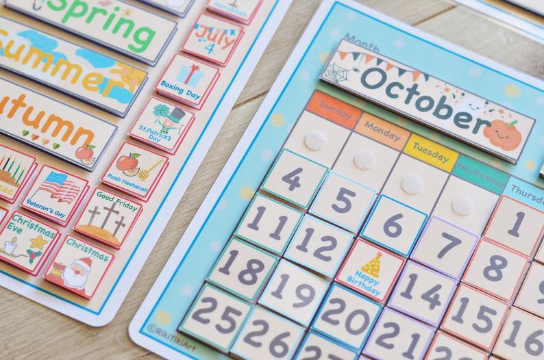 Classroom Calendar Preschool Curriculum Homeschool 1