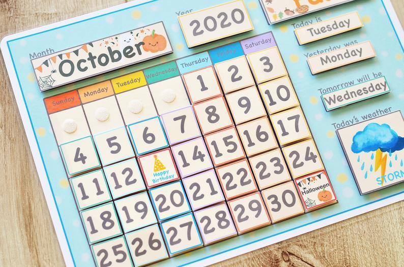 Classroom Calendar Preschool Curriculum Homeschool
