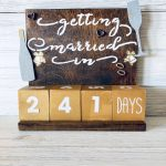 Countdown To Wedding Calendar Gift For Engagement