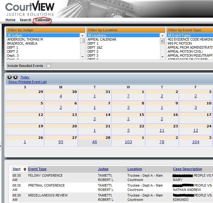 Court Calendars District And Superior Nc Calendar
