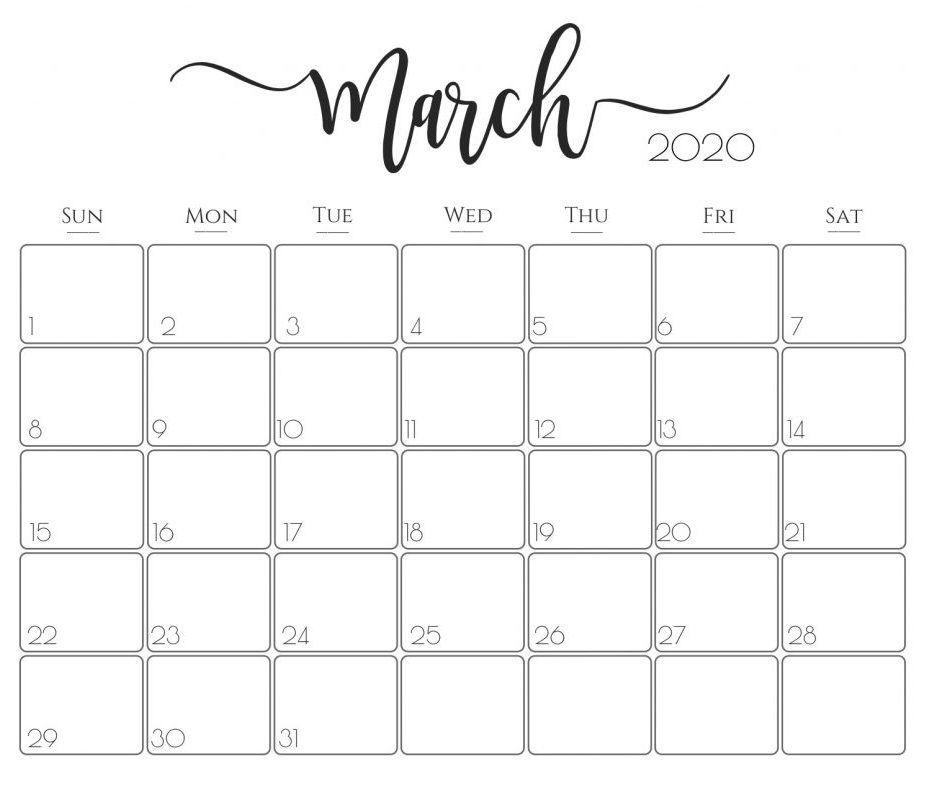 Cute March 2020 Calendar Free August 2019 Calendar