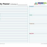 Day Planner Template E Commercewordpress