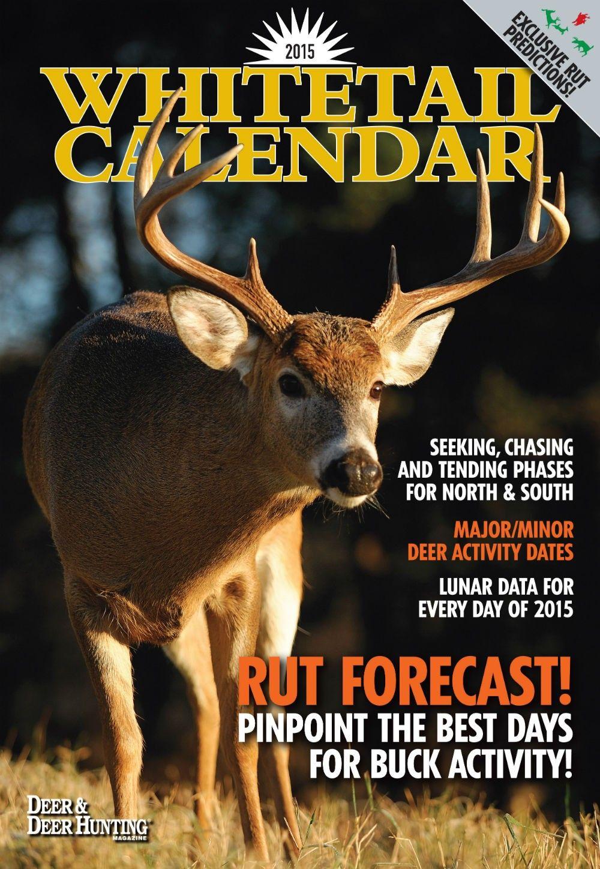 Deer Rut Calendar Calendar Printable Free