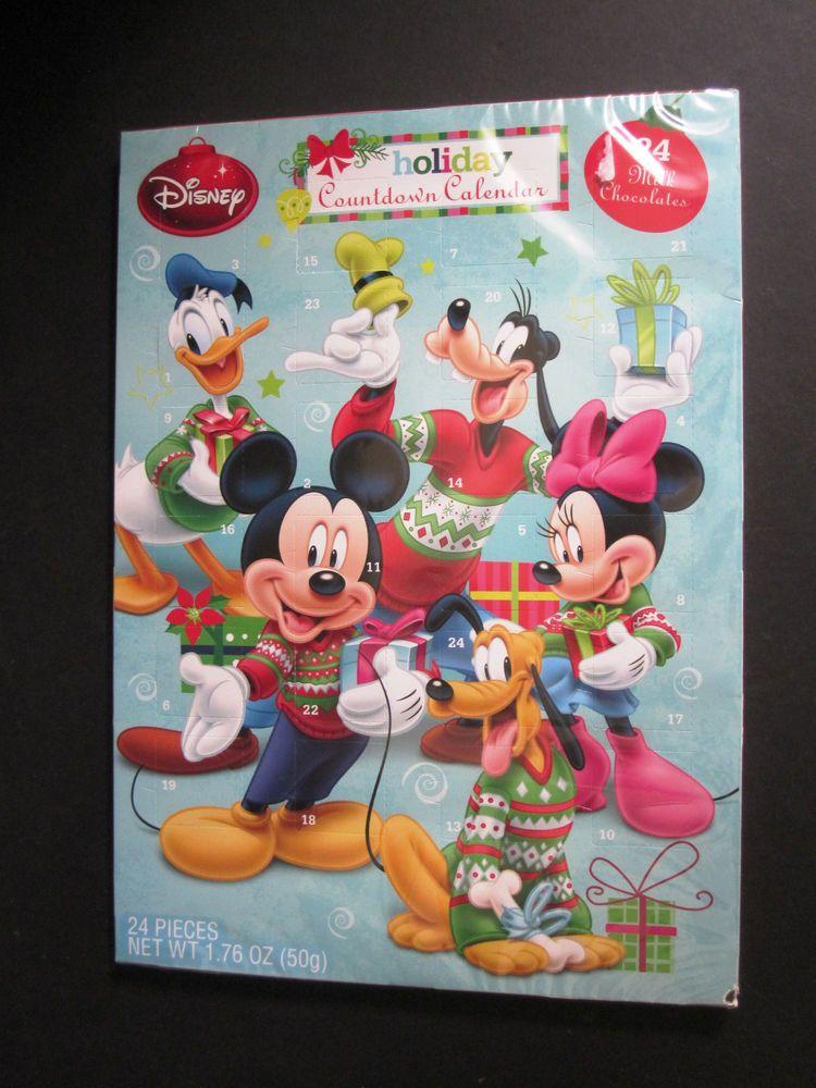 Disney Holiday Countdown Calendar Milk Chocolates Exp 7