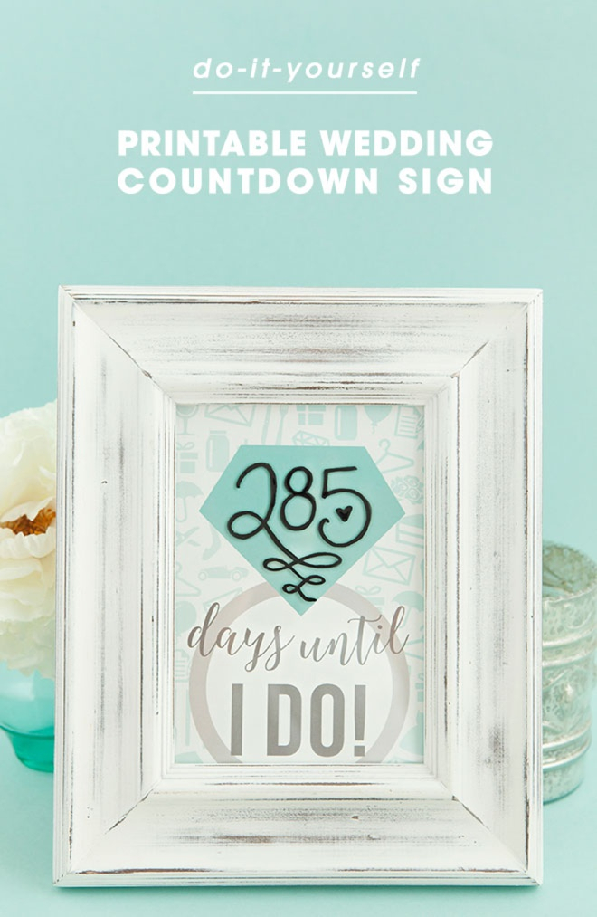 Diy The Most Adorable Wedding Countdown Sign Ever