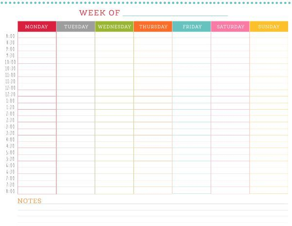 Dont Double Book Yourself Use This Free Printable Weekly