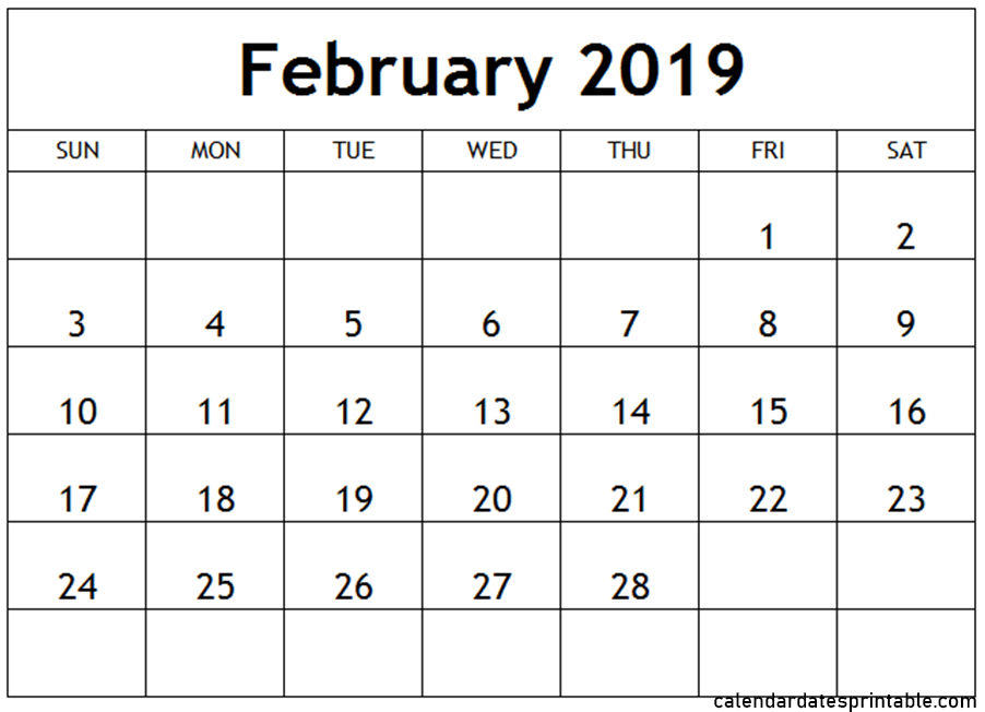 February 2019 Calendar With Holidays Word And Excel