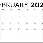 February 2021 Calendar With Holidays Printable Calendar