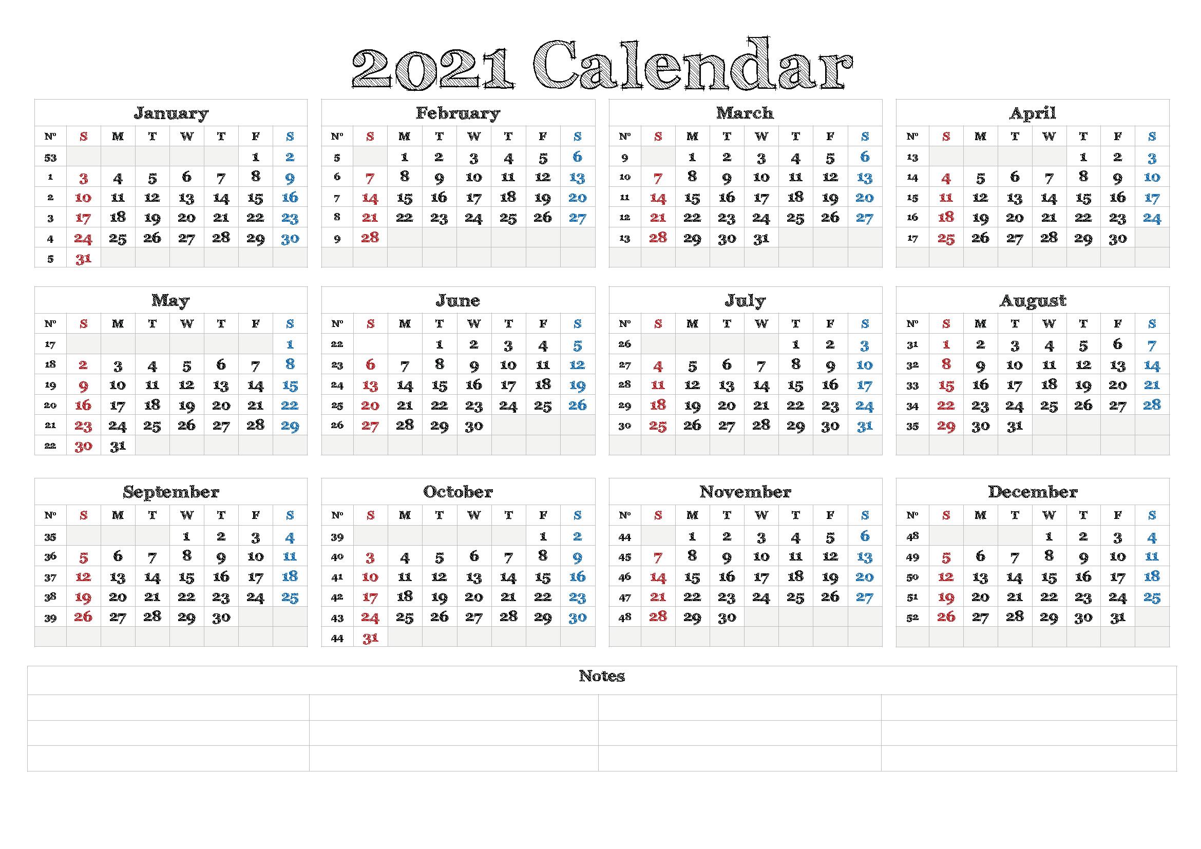 Free 2021 California Printable Calendar With Holidays Pdf