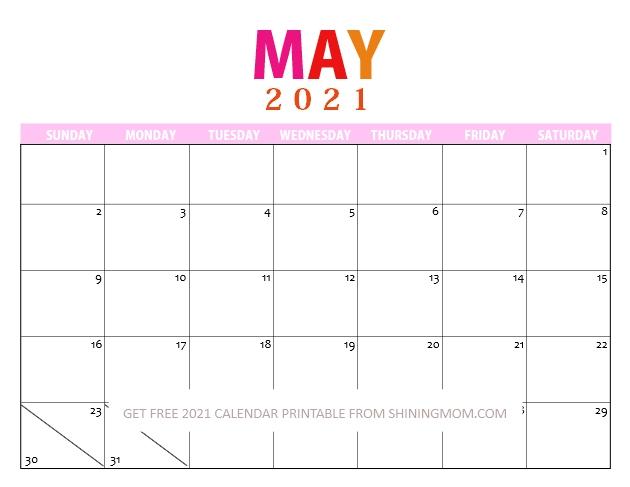 Free 2021 Printable Calendar Pdf To Download Today