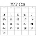 Free Printable Blank Monthly Calendar And Planner For May 2