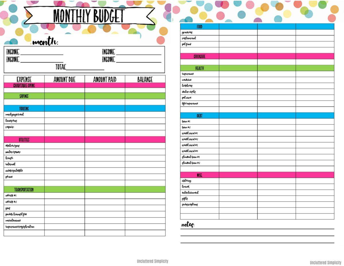 Free Printable Budget Calendar 2021 Free 2021 Printable