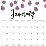 Free Printable Calendar 2021 Floral Paper Trail Design 1