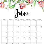 Free Printable Calendar 2021 Floral Paper Trail Design