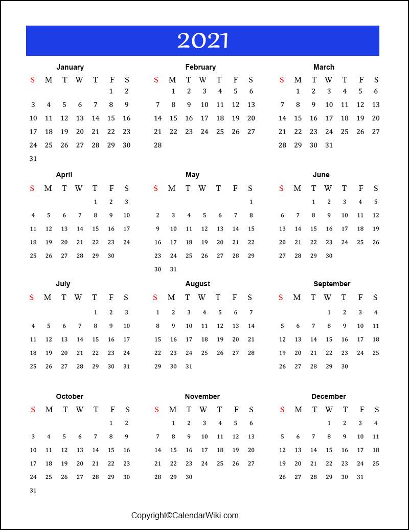 Free Printable Calendar 2021 Templates Pdf Word