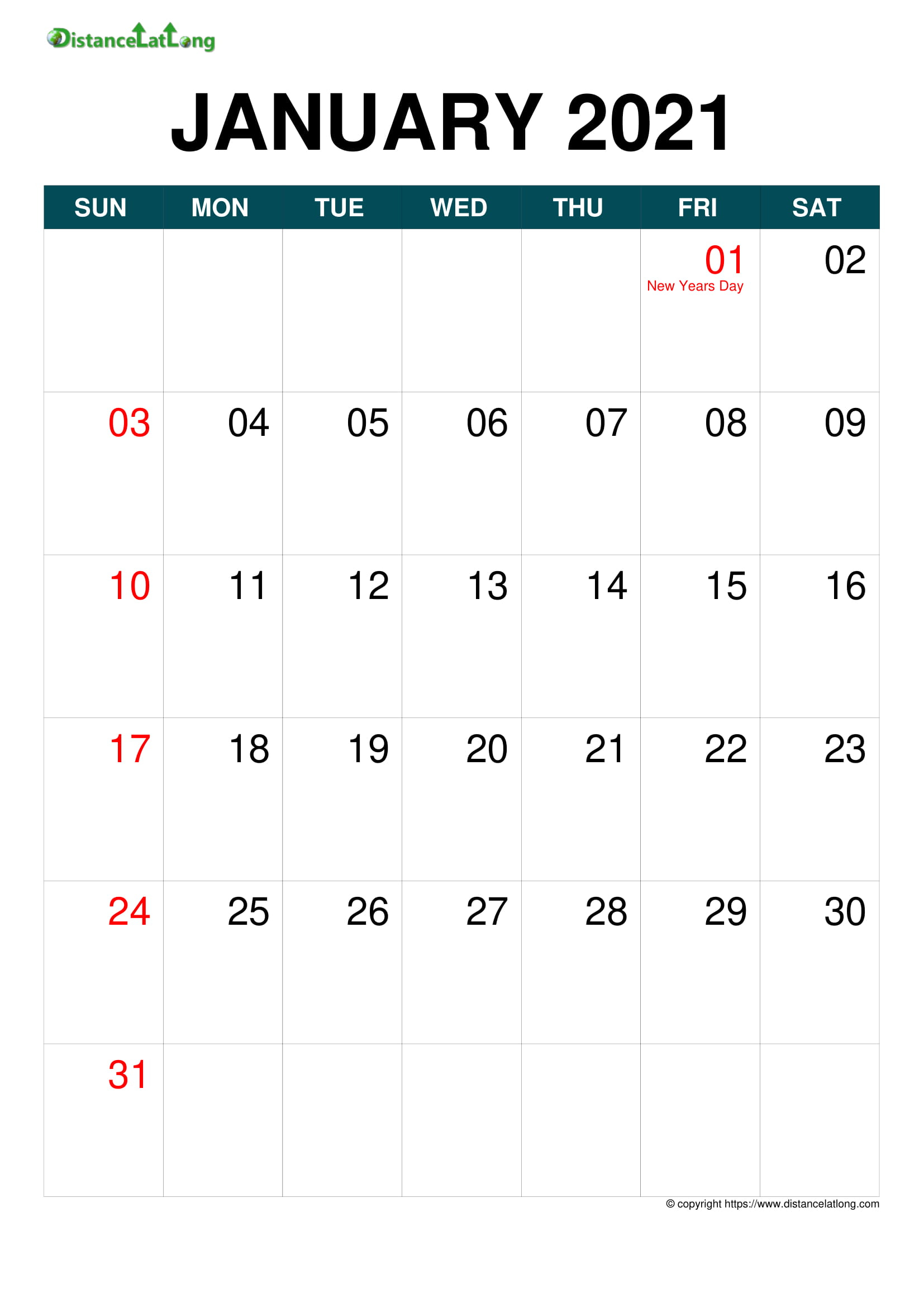 Free Yearly Printable United Kingdom Calendar Template