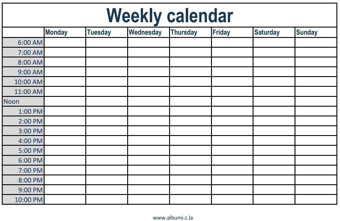 Generic 4 Week Calendar Ten Free Printable Calendar 2020