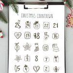 Holiday Advent Calendar Christmas Countdown Christmas