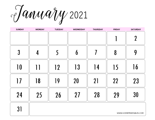 January 2021 Calendar For Instant Download Home Printables