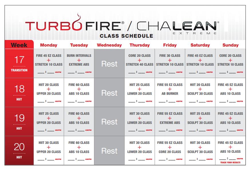 Lisa Richardson My Round 1 Chalene Extreme Turbofire