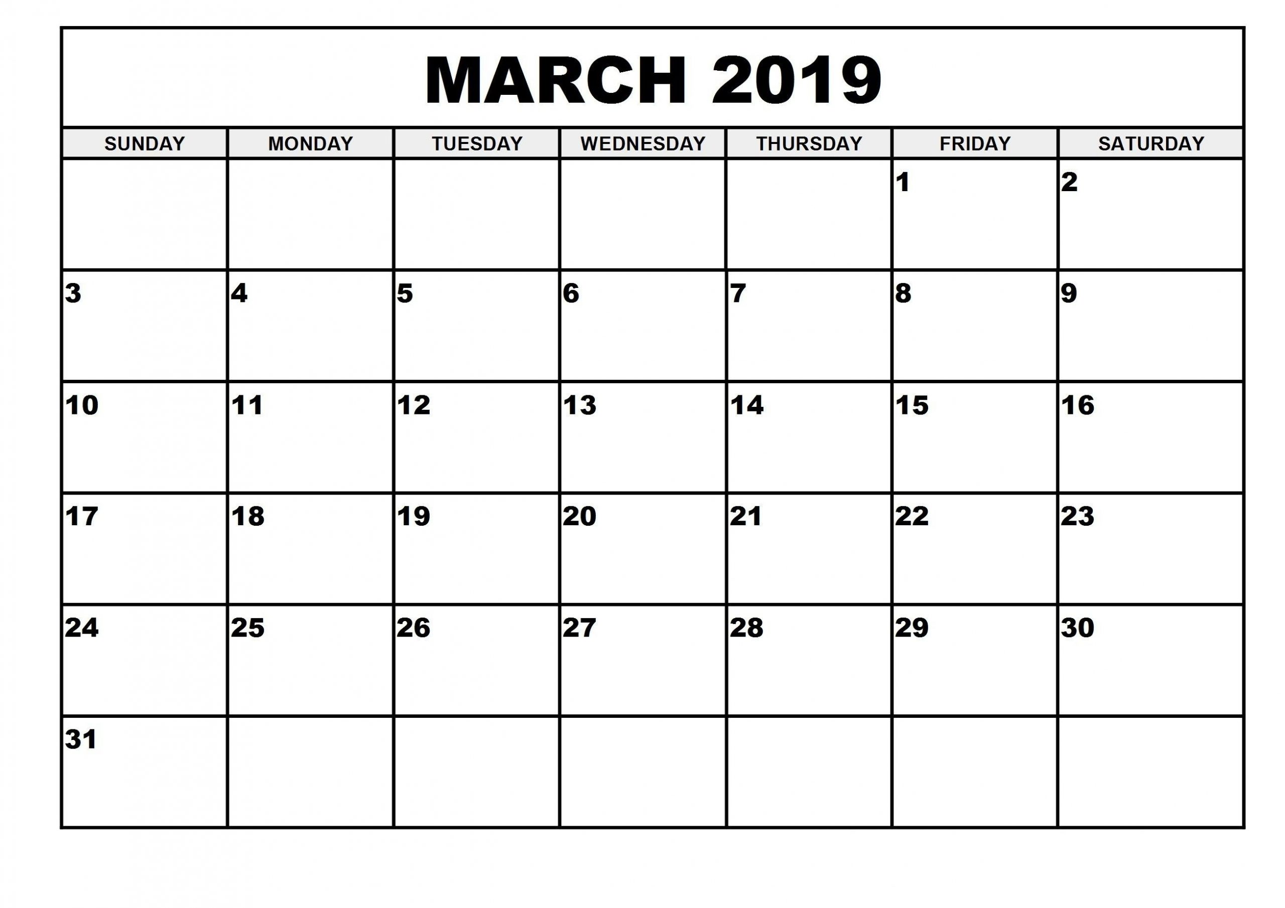 March 2019 Calendar Template With Images Calendar