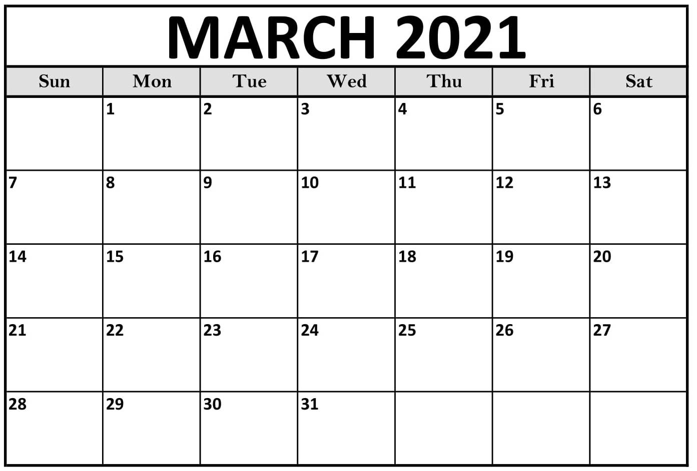 March 2021 Calendar With Holidays Dates Template Web