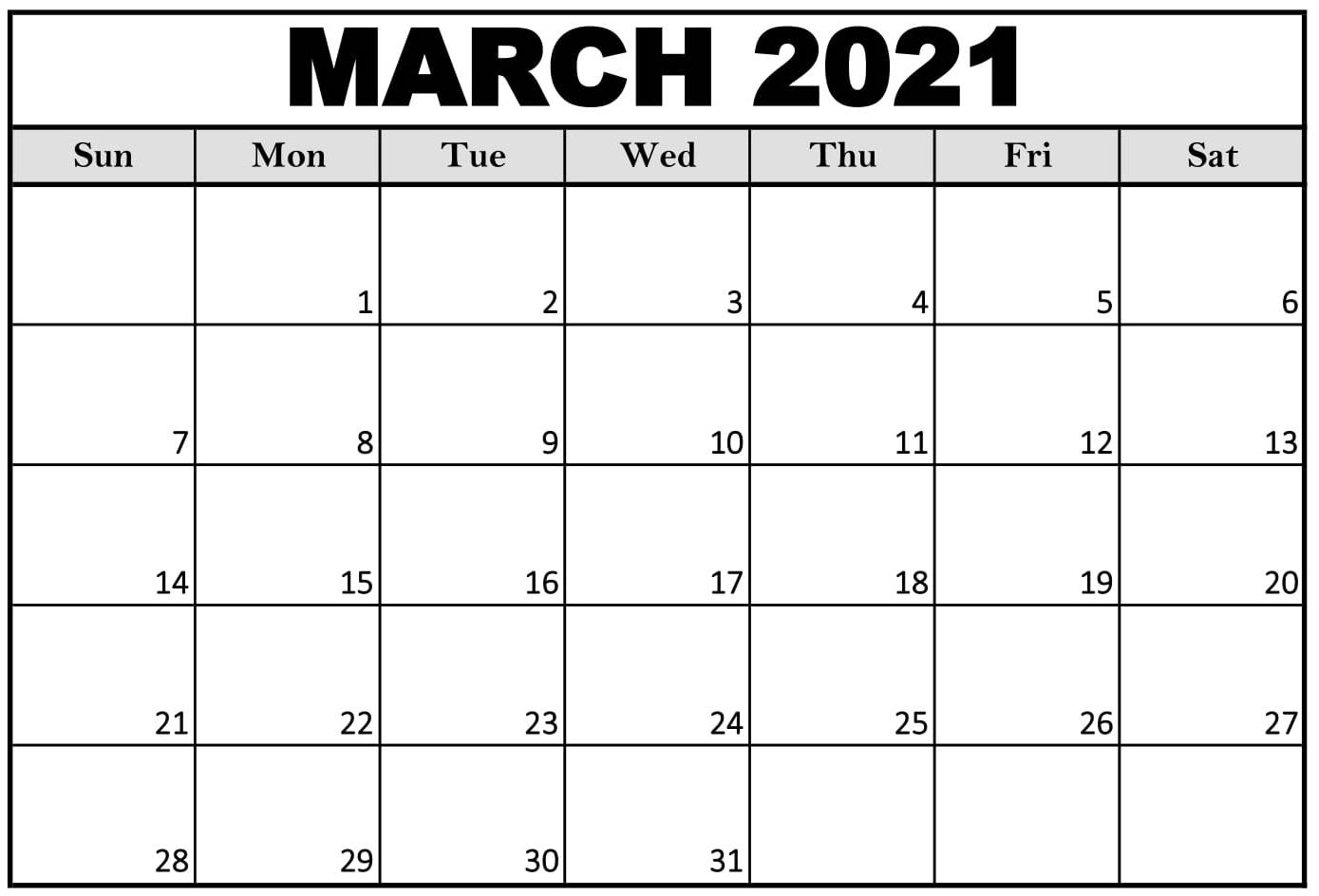 March 2021 Printable Calendar Cute With Notes Web Galaxy