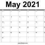 May 2021 Calendar Printable Free Download Noolyo