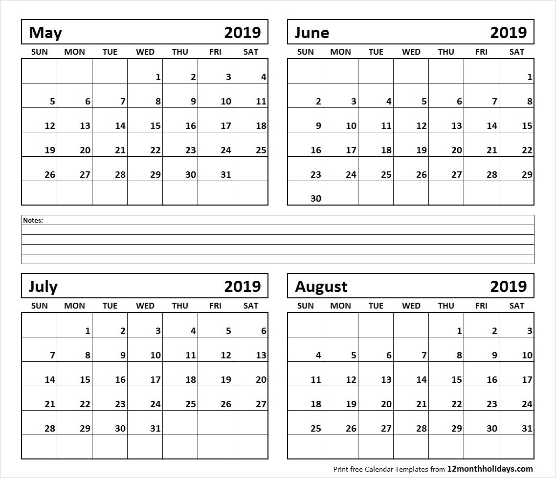 May June July August 2021 Calendar 2022 Calendar