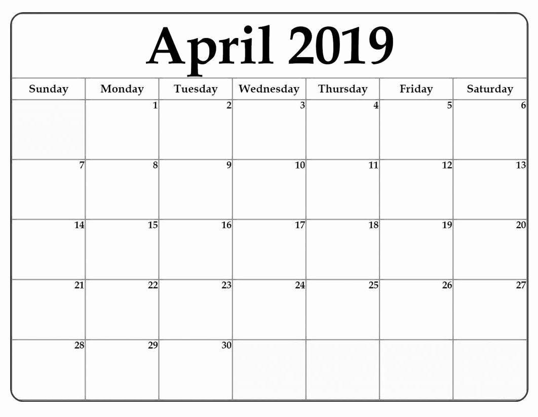 Microsoft Office Calendar Templates 2019 Beautiful April