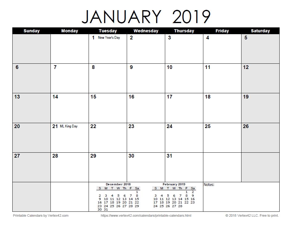 Monthly Blank Calendar 2020