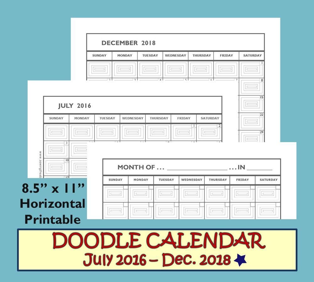 Monthly Calendar 2017 2018 Monthly Calendar Printable 2017