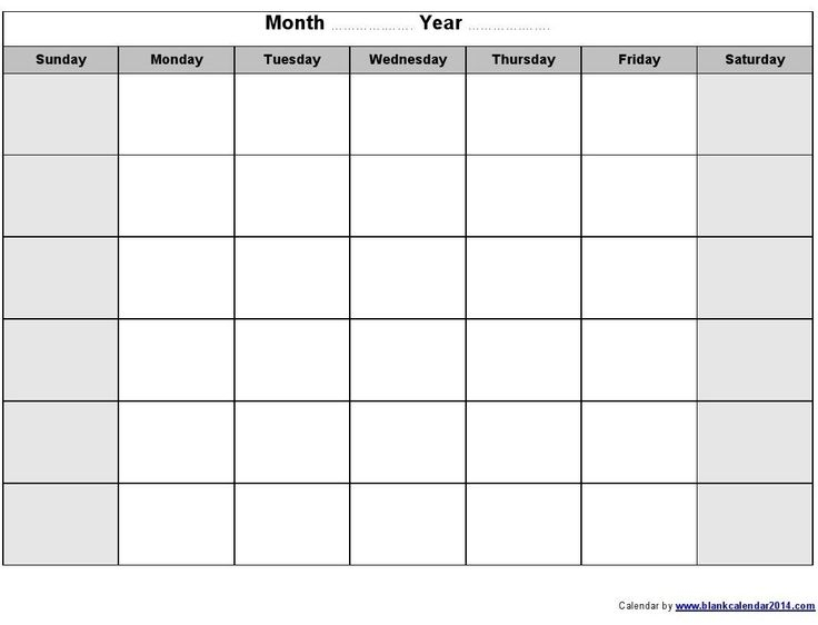 Monthly Calendar 8 5 X 11 In 2020 Blank Monthly Calendar